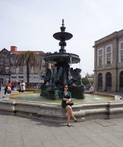 Fonte dos leões Praça Gomes de Teixeira